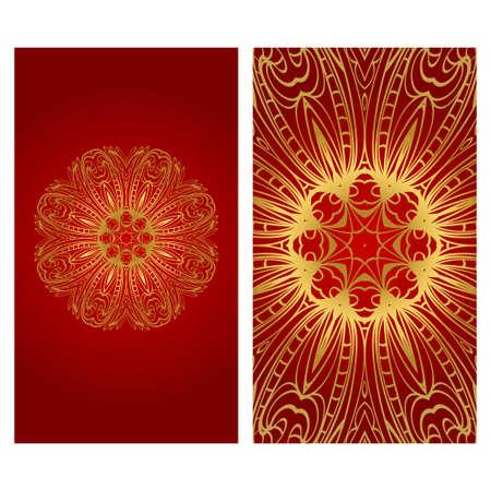 Flyer pages Ornament Illustration Concept with Mandala. Vintage Art Indian, Magazine. Vector Decorative Layout Design.