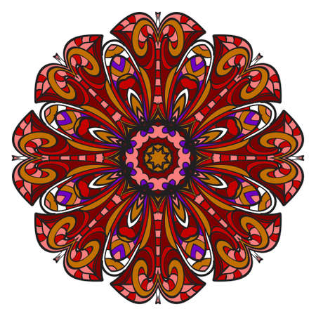 Modern Decorative Cicle Shapes. Floral mandala. vector illustration. 일러스트