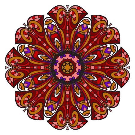 Modern Decorative Cicle Shapes. Floral mandala. vector illustration. Illustration
