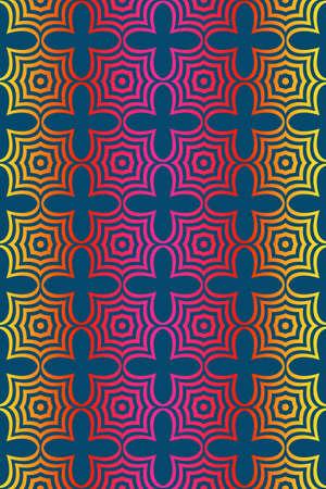 Seamless geometric vector pattern. Design paper for scrapbook