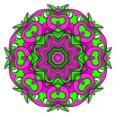 Modern Decorative floral color mandala. Super vector round Shapes. Vector illustration Ilustração