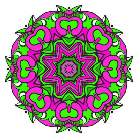 Modern Decorative floral color mandala. Super vector round Shapes. Vector illustration 向量圖像