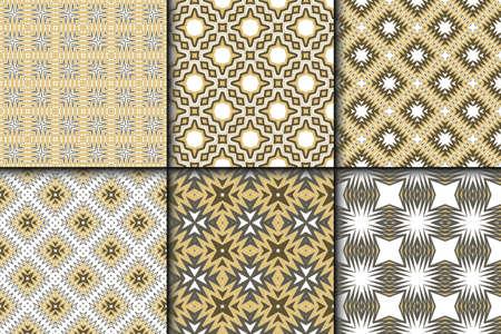 Set of Fashion Zigzag Pattern. Vector Background. For Scrapbooking Design, Printing, Wallpaper, Decor, Fabric, Invitation