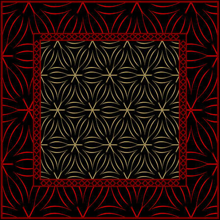 Geometrical linear texture. Original geometrical puzzle. Backdrop. Vector illustration. For design, wallpaper, fashion, print.