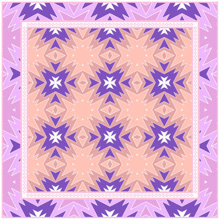 Rectangular Multicolored Geometric Ornament. Vector Illustration For Fashion Design And Background.