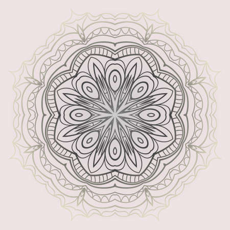 Ornamental round lace. Sacred oriental mandala. color floral ornament. Modern Decorative vector illustration for time restless.