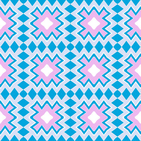 Seamless Zig Zag Pattern. Abstract Background. For Wallpaper, Fabric, Web Page Design, Textures. Vector Illustration.