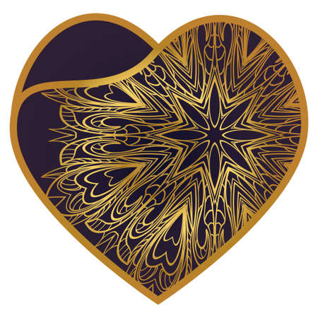 Laser Cutting Heart Template For Interior Design, Layouts Wedding Cards, Invitations. Plotter Cutting Or Printing Ilustracja
