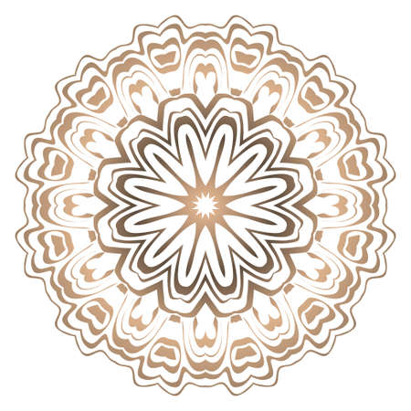 Ornamental round lace. Sacred oriental mandala. color floral ornament. Modern Decorative vector illustraation.