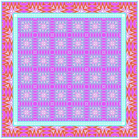 Festive Colorful Geometric Pattern. Vector Illustration. For Print Bandanna, Tablecloth, Fabric Print, Fashion Illustration