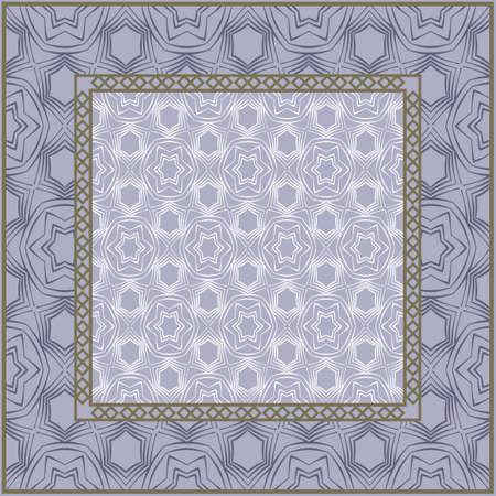 Geometric Pattern. Vector illustration. design for wallpaper, flyer, book, brochure. Steel.
