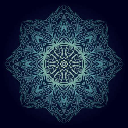 Ornamental round lace. Sacred oriental mandala. color floral ornament. Modern Decorative vector illustration for time restless.