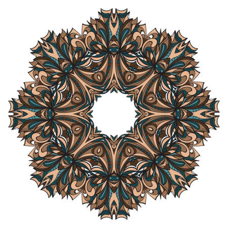 Modern Decorative Cicle Shapes. Floral mandala. vector illustration. Illustration