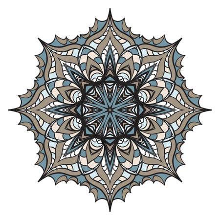 Hand drawn background with Mandala. Vector decorative elements. Arabic, Indian, ottoman motifs. Archivio Fotografico - 126796606