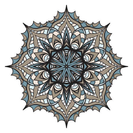 Hand drawn background with Mandala. Vector decorative elements. Arabic, Indian, ottoman motifs.