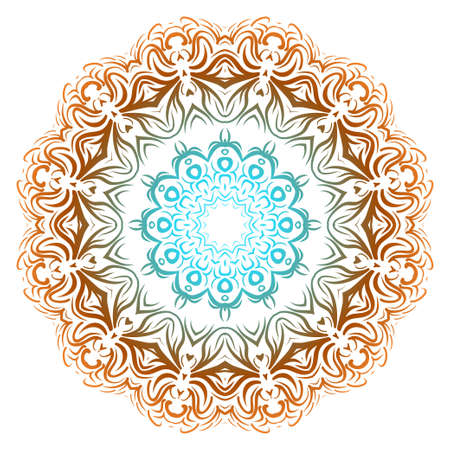 Vector illustration. Modern Decorative floral mandala. Hand drawn background. Islam, Arabic, Indian, ottoman motifs.