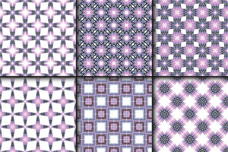 Set of Vector seamless pattern with abstract geometric style. Repeating sample figure and line. For fashion interiors design, wallpaper, textile industry.