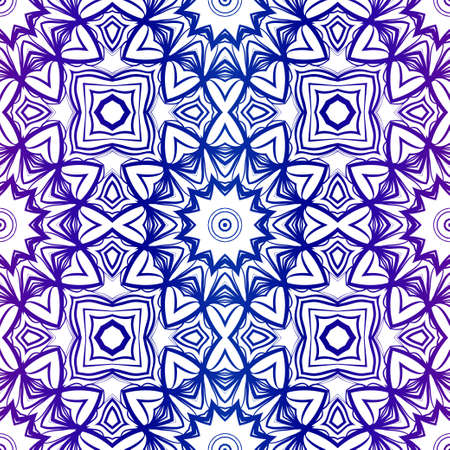 Abstract Floral Color Pattern. Seamless Vector Illustration. For Fantastic Design, Wallpaper, Background, Print. Meon color.  イラスト・ベクター素材