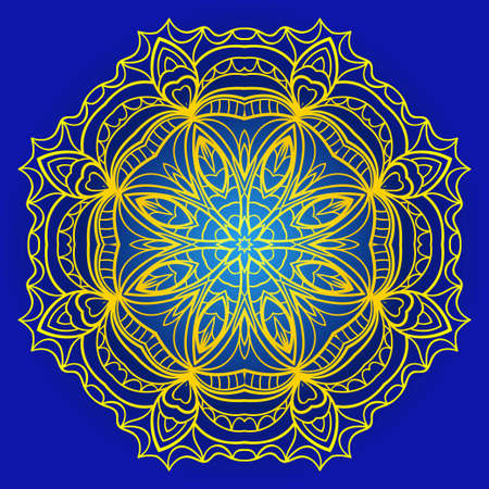 Ethnic ornamental mandala. Decorative design element. Vector illustration for card.