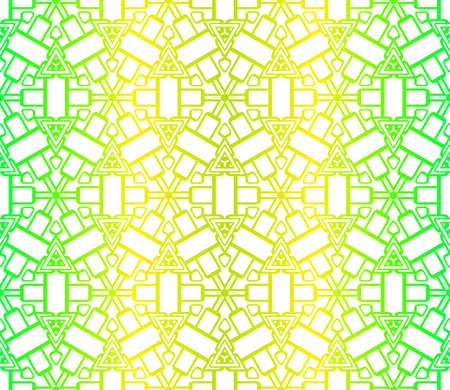 Impression de design de mode avec motif géométrique. Illustration vectorielle. Pour le design d'intérieur moderne, l'impression textile de mode, le papier peint. Vecteurs