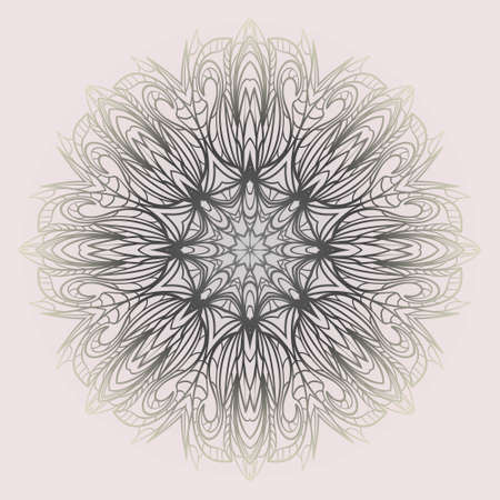 Vector round abstract Mandala style decorative element. Hand-Drawn Vector illustration. Can be used for textile, greeting card, coloring book, phone case print