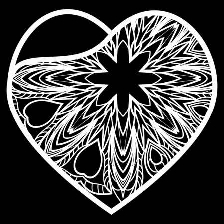 Heart Lace. Vector Illustration. Template For Greeting Cards, Envelopes, Wedding Invitations, Interior Elements.