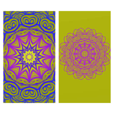 Vector Mandala Pattern.Template For Flyer Or Invitation Card Design. For Banners, Greeting Cards, Gifts Tags