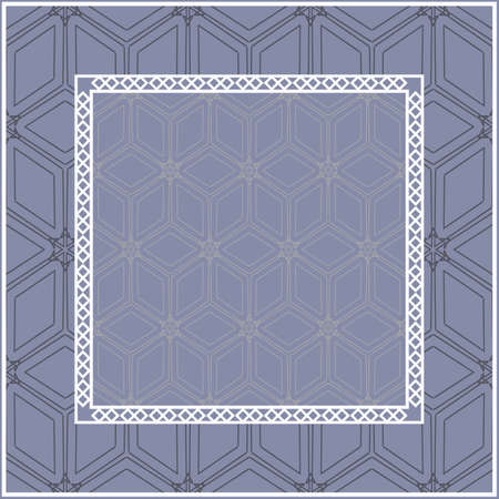 Design of a Scarf with a Geometric Pattern . for Scarf Print, Fabric, Covers, Scrapbooking, Bandana, Pareo, Shawl. Vector illustration. Ilustración de vector