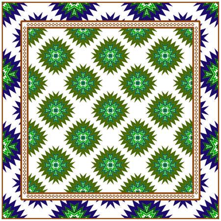 Vector Paper For Scrapbook. Luxury Texture For Wallpaper, Invitation. Geometric Zigzag Ornament. Green, brown color.