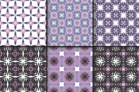 Set of Seamless geometric vector pattern. Design paper for scrapbook.