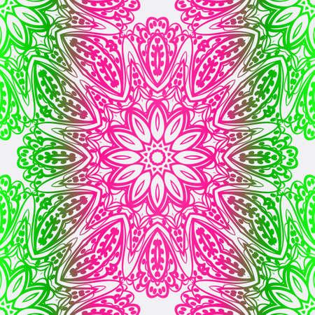 Abstract Floral Color Pattern. Seamless Vector Illustration. For Fantastic Design, Wallpaper, Background, Print. Meon color. Illustration