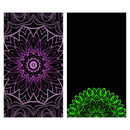 Colorful Design With Floral Mandala Background. Vector Design. Ottoman, Arabic, Oriental, Turkish, Indian,Motif. Template For Flyer Or Invitation Card Design