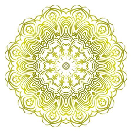 Modern Decorative Cicle Shapes. Floral mandala. vector illustration. 向量圖像