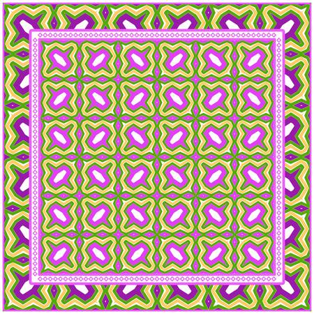 Decorative Pattern With Geometric Ornament. Perfect For Printing On Fabric Or Paper. Vector Illustration