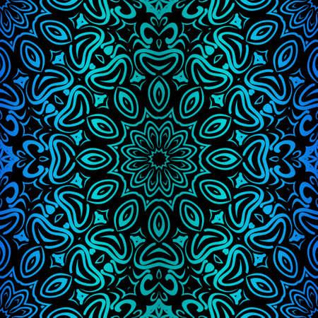 Diseño Con Patrón Floral Con Elemento Decorativo. Ilustración de vector. Diseño de plantilla para tarjeta, chal, interior, estampado de moda