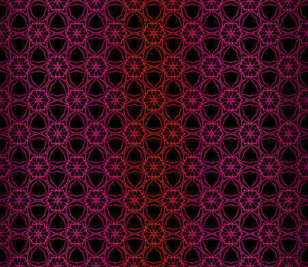 Vector Illustration. Pattern With Floral Ornament, Decorative Border. Design For Print Fabric. Dark purple color.