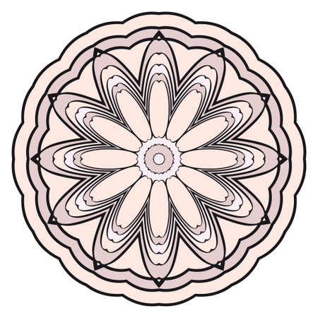 Modern floral vector ornaments. Decorative flower mandala. vector illustration