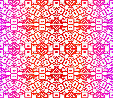 Decorative Ornament With Floral Pattern. Seamless. Vector illustration.