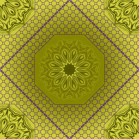 Abstract vector pattern with abstract floral and leave style. For modern interiors design, wallpaper, textile industry