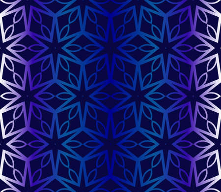 Dark blue Pattern Of Geometric Style. Seamless. Vector Illustration. Design For Printing, Presentation, Textile Industry