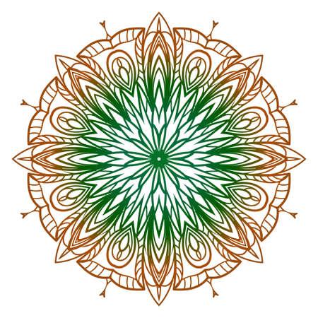 Modern Decorative floral color mandala. Super vector round Shapes. Vector illustration.