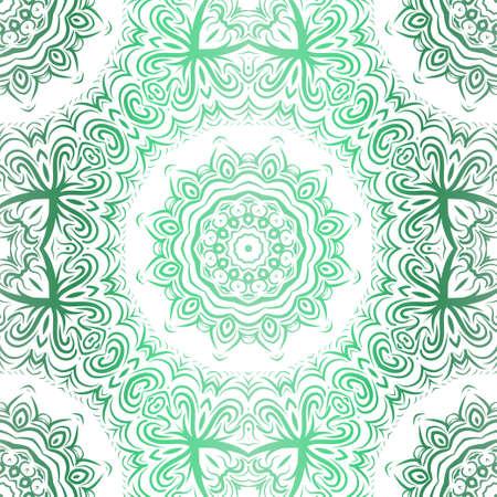 Floral Pattern, Green color Design. For Design background, paper, fashion print. Vector Illustration.
