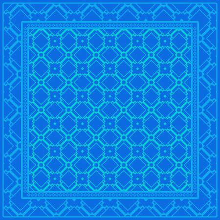 Floral Geometric Pattern. Vector illustration. design for wallpaper, flyer, book, brochure Ilustración de vector