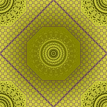 geometric pattern in lace style. Ethnic ornament. Vector illustration. For modern interior design, fashion textile print, wallpaper Vector Illustration