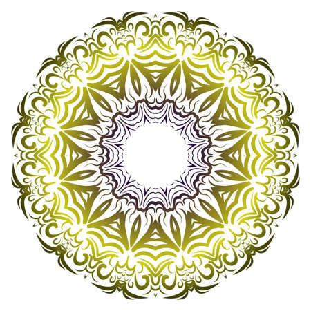 Modern Decorative floral color mandala. Super vector round Shapes. Vector illustration.