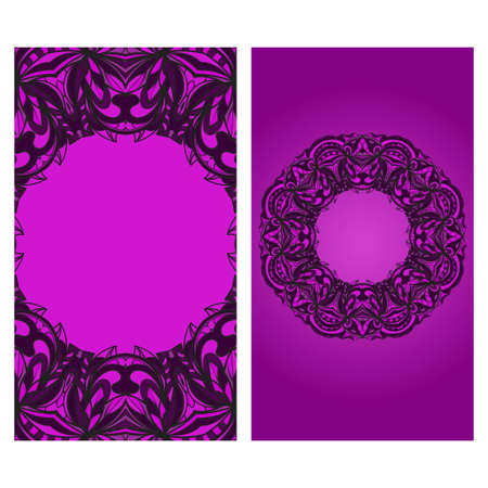 Colorful Henna Mandala Design, for FestiveFlyer Background. Vector illustration