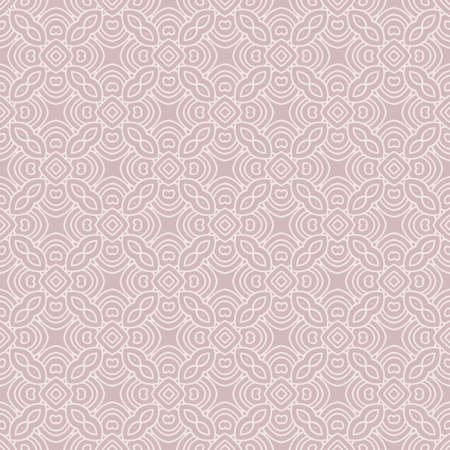 Abstract floral ornament in geometric style. Vector illustration. Beige color. Banque d'images - 115569581