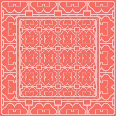 Fashion Design Print With Geometric Pattern. Vector Illustration. For Modern Interior Design, Fashion Textile Print, Wallpaper. Rose color.