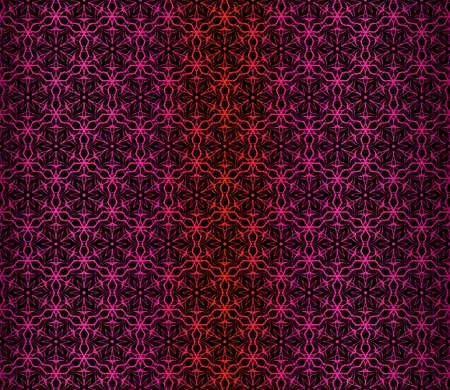 Vector Illustration. Pattern With Floral Ornament, Decorative Border. Design For Print Fabric. Dark purple color.