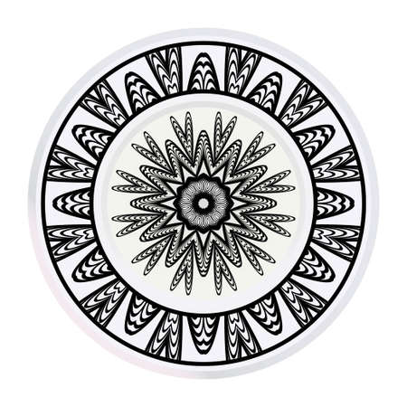 matching decorative plates for interior design. Tribal ethnic ornament with mandala. Home decor vector illustration